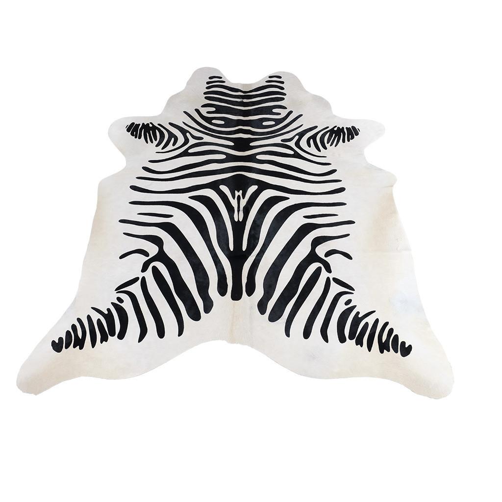 Koeienhuid wit zebraprint