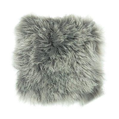 Kussenhoes Tibetaans lam grijs wit