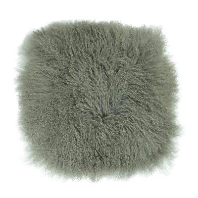 Kussenhoes Tibetaans lam steengrijs