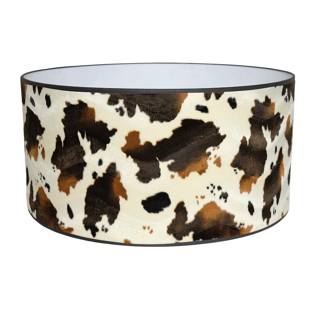 Lampenkap koeienprint driekleur