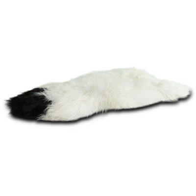 IJslandse schapenvacht wit met zwarte vlekken