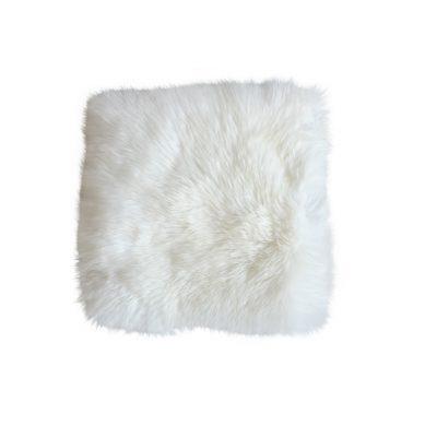 Stoelpad schapenvacht wit vierkant