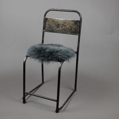 stoelzitting schapenvel donker grijs