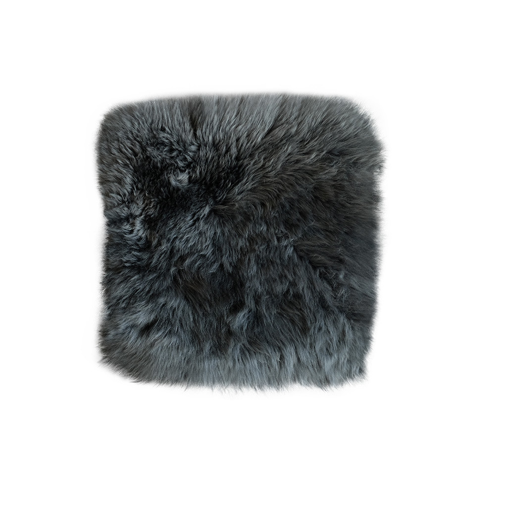 Stoelpad schapenvacht antraciet vierkant