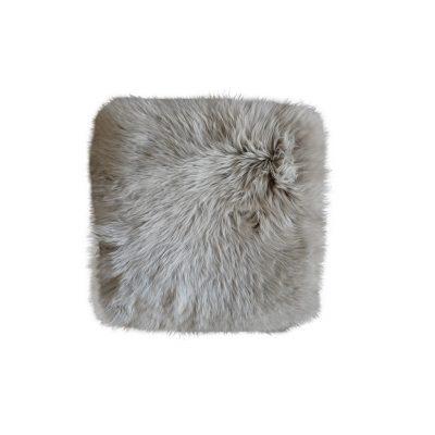 Stoelpad schapenvacht platinum grijs vierkant