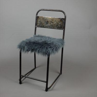 Vierkante stoelzitting schapenvel