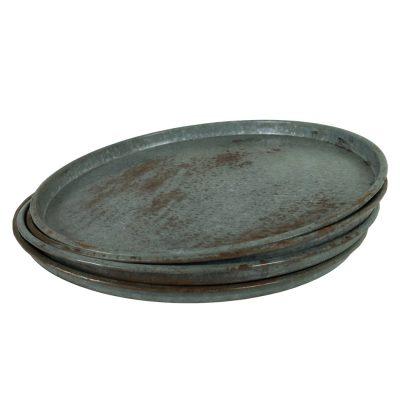 Grote platte industriële schaal ijzeren vintage schaal