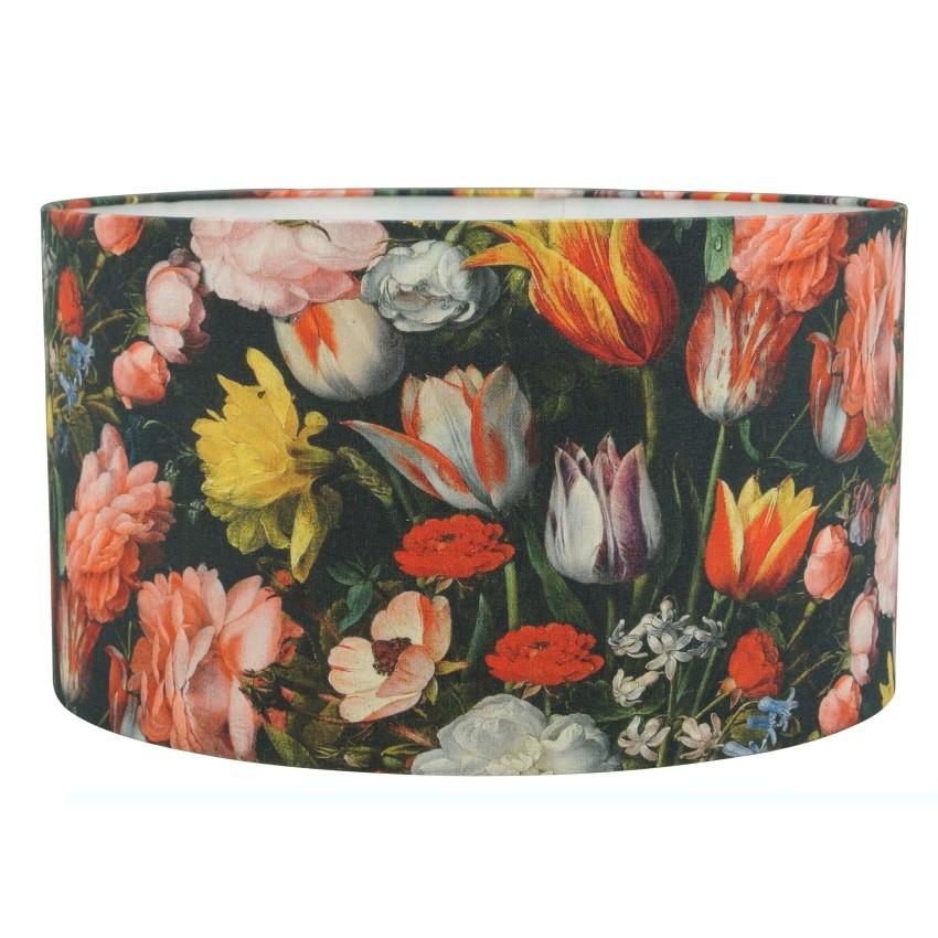 Lampenkap Lampenkap gebloemd met Hollandse bloemen - cilinder | lampenkappen met bloemen
