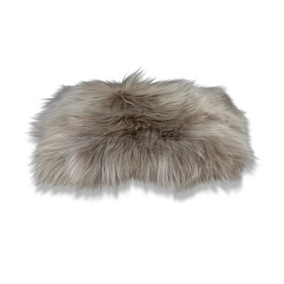 taupe chair pad sheepskin