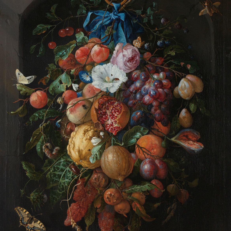 Schilderij van bloemen geprint op hout