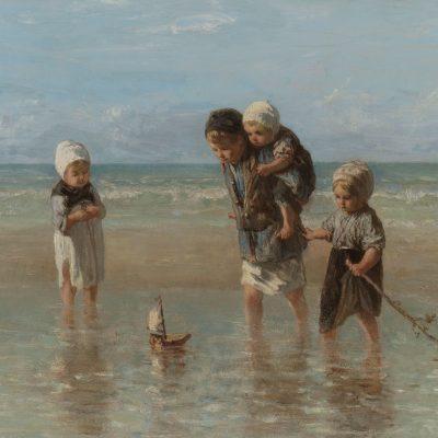 Muur decoratie kinderen van de zee
