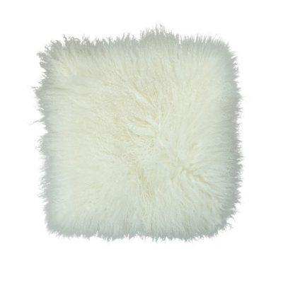 kussenhoes Tibetaans lam wit