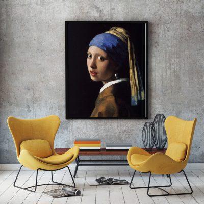Muur decoratie meisje met de parel vermeer