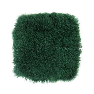 Kussenhoes Tibetaans lam flessen groen