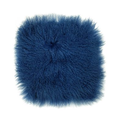 Kussenhoes Tibetaans lam blauw