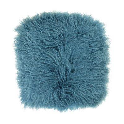 Kussenhoes Tibetaans lam jeans blauw