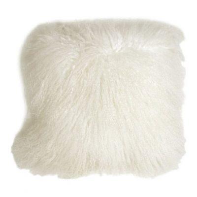 Kussenhoes Tibetaans lam crème wit