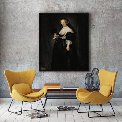 Muur decoratie Portret van Oopje Coppit van Rembrand