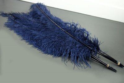 Struisvogelveren blauw   decoratieve veren   decoratie veren