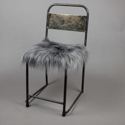 staal grijs stoelkussen schapenvacht