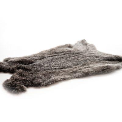 grijs konijnenvel extra groot