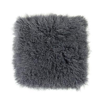 Kussenhoes Tibetaans lam donker grijs