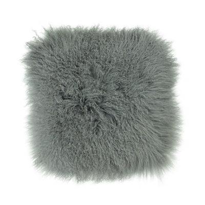 Kussenhoes Tibetaans lam grijs