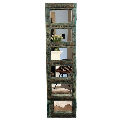 Vintage spiegelpaneel van hout