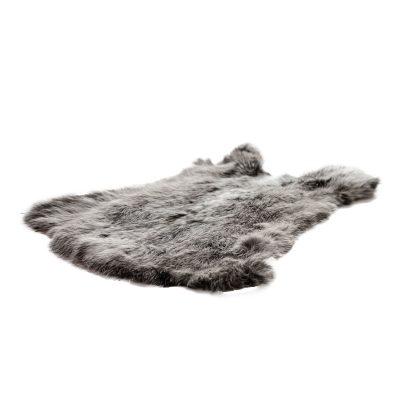 groot konijnenvel grijs