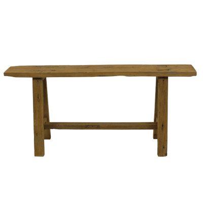 Halbankje van hout