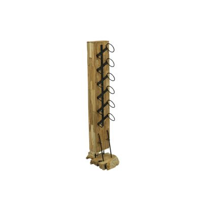 Robuust houten wijnrek