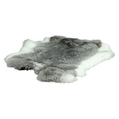Konijnenvachtje grijs wit