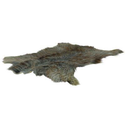 Geitenvel grijs bruin met lange haren