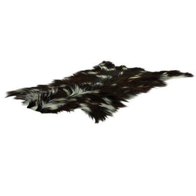 Geitenhuid zwart wit langharig