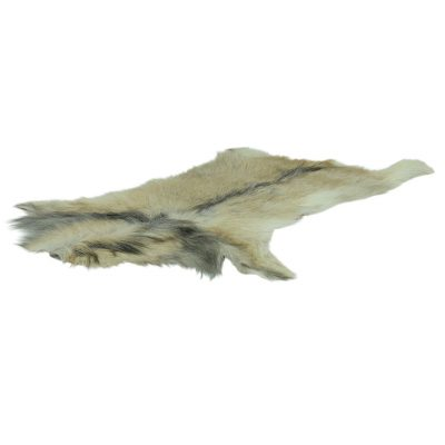 geitenvacht beige met licht grijze streep