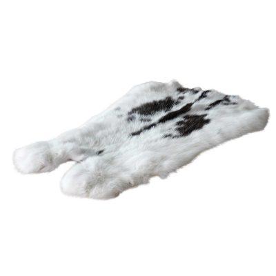 konijnenvacht zwart wit