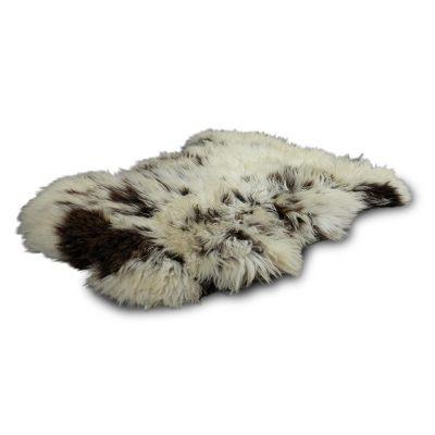 schapenvel gevlekt bruin wit