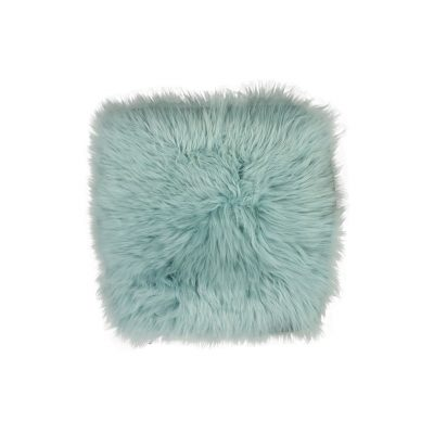 Stoelpad schapenvacht turquoise stoelzitje
