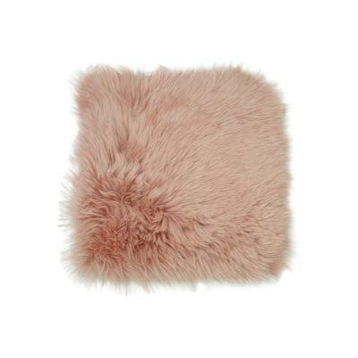 Roze stoelpad schapenvacht - stoelzitting schapenvacht