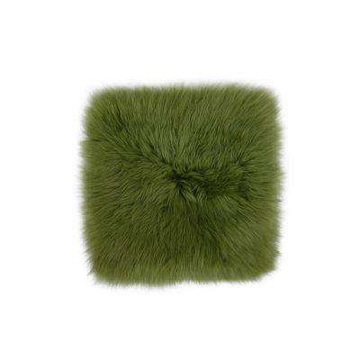 Groene stoelpad van schapenvacht