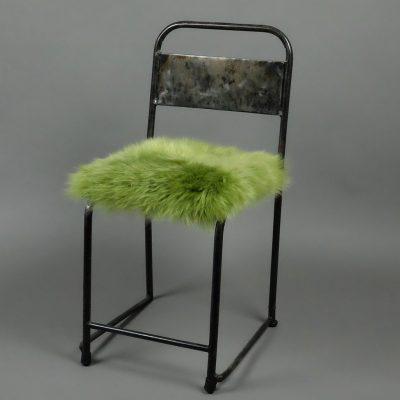Stoelpad schapenvacht groen
