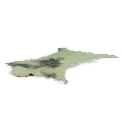 Geitenvacht wit met grijze vlek