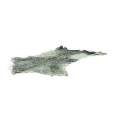Geitenvel grijs met wit
