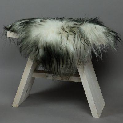 Langharig stoelkussen van schapenvacht