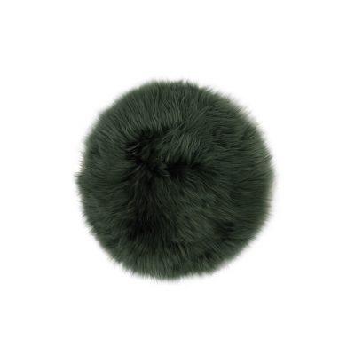 Stoelpad schapenvacht donker groen | stoelzitting schapenvacht
