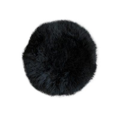 stoelpad zwart rond