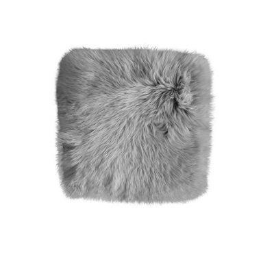 schapenvacht stoelpad vierkant grijs