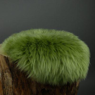 zitkussen groen schapenvacht
