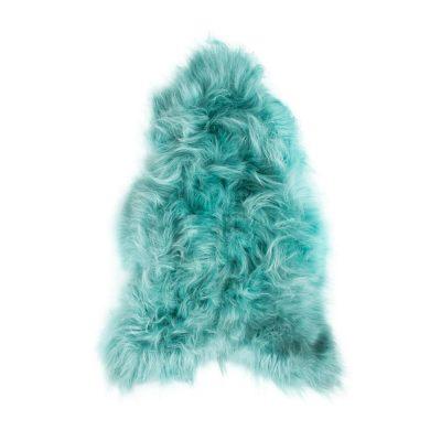 Turquoise schapenvacht