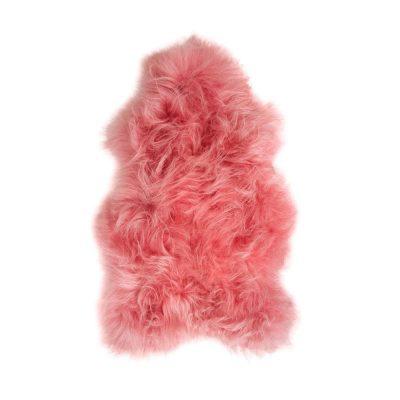 Koraal roze IJslandse schapenvacht